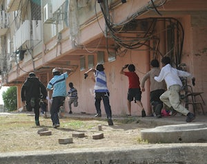 Flickr   israel defense forces   children in town under fire by rockets from gaza  2