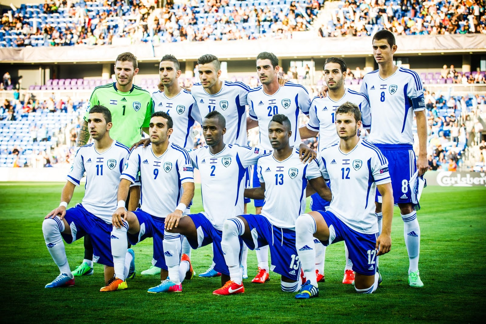 Israel line up against norway