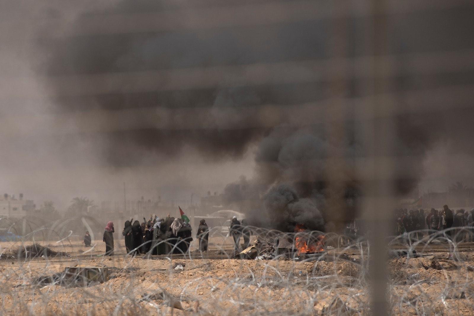 Gazan protesters 1