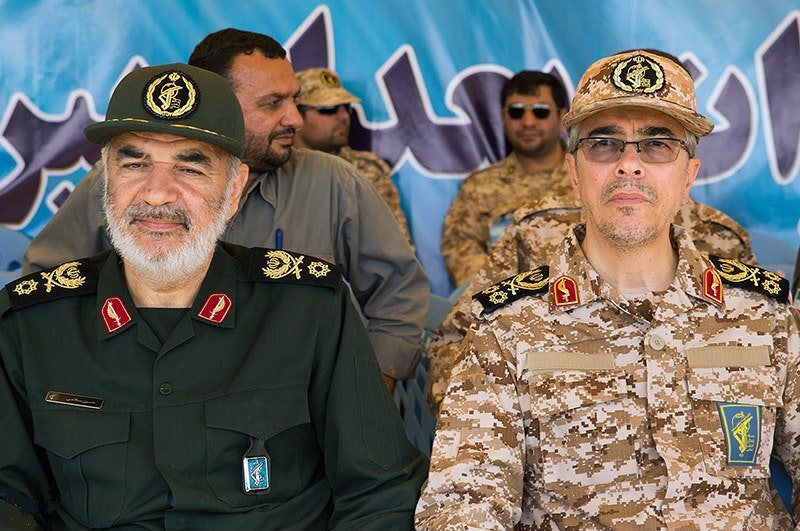 Sardar hossein salami   sardar mohammad bagheri in great prophet wargame in april 2016 by tasnimnews 08 by tasnimnews 09