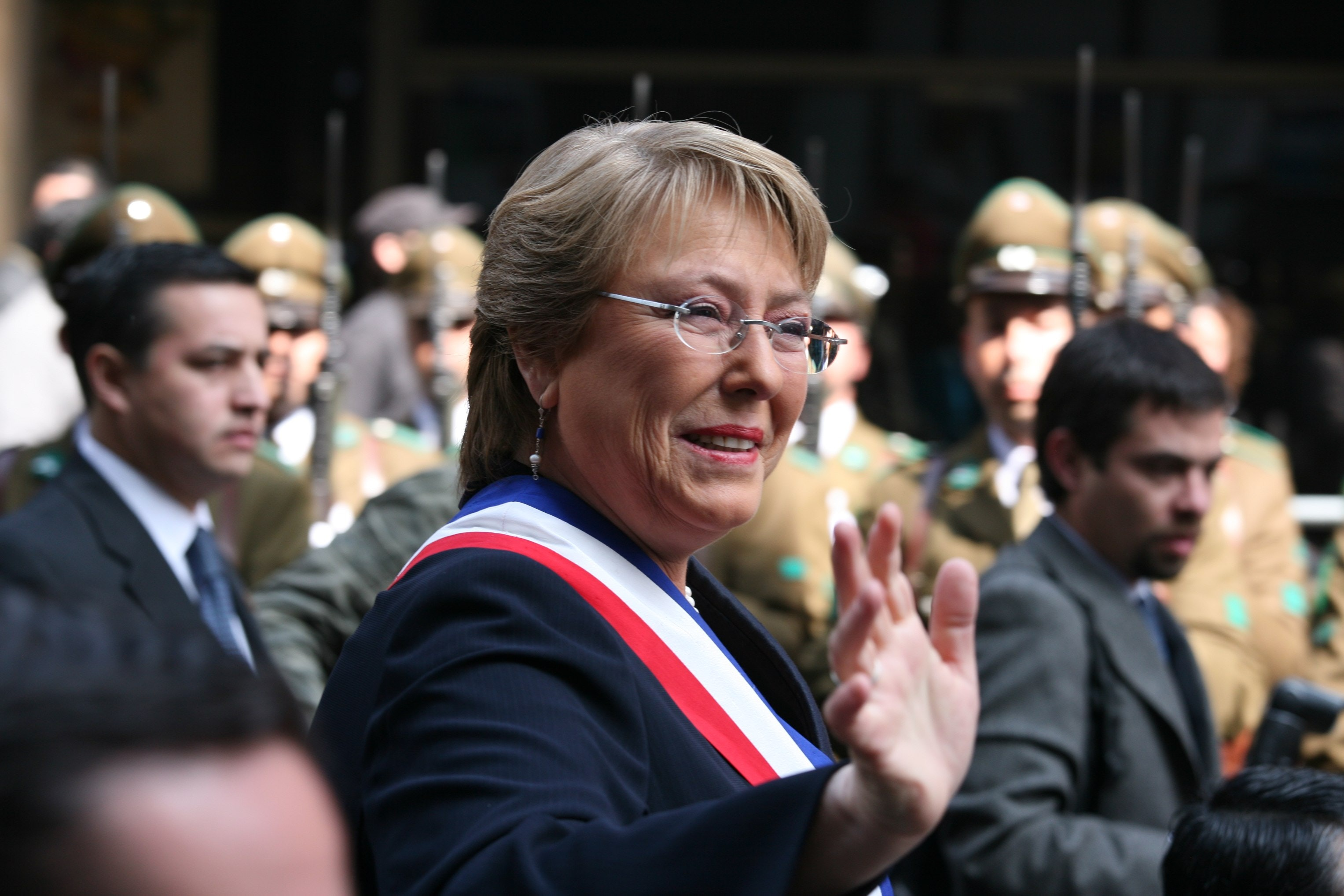 The president of chile  verónica michelle bachelet jeria  1