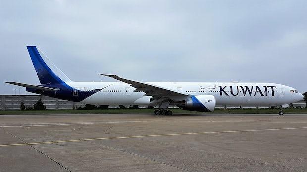 Kuwait airways boeing 777 300er  9k aoh  at london heathrow airport